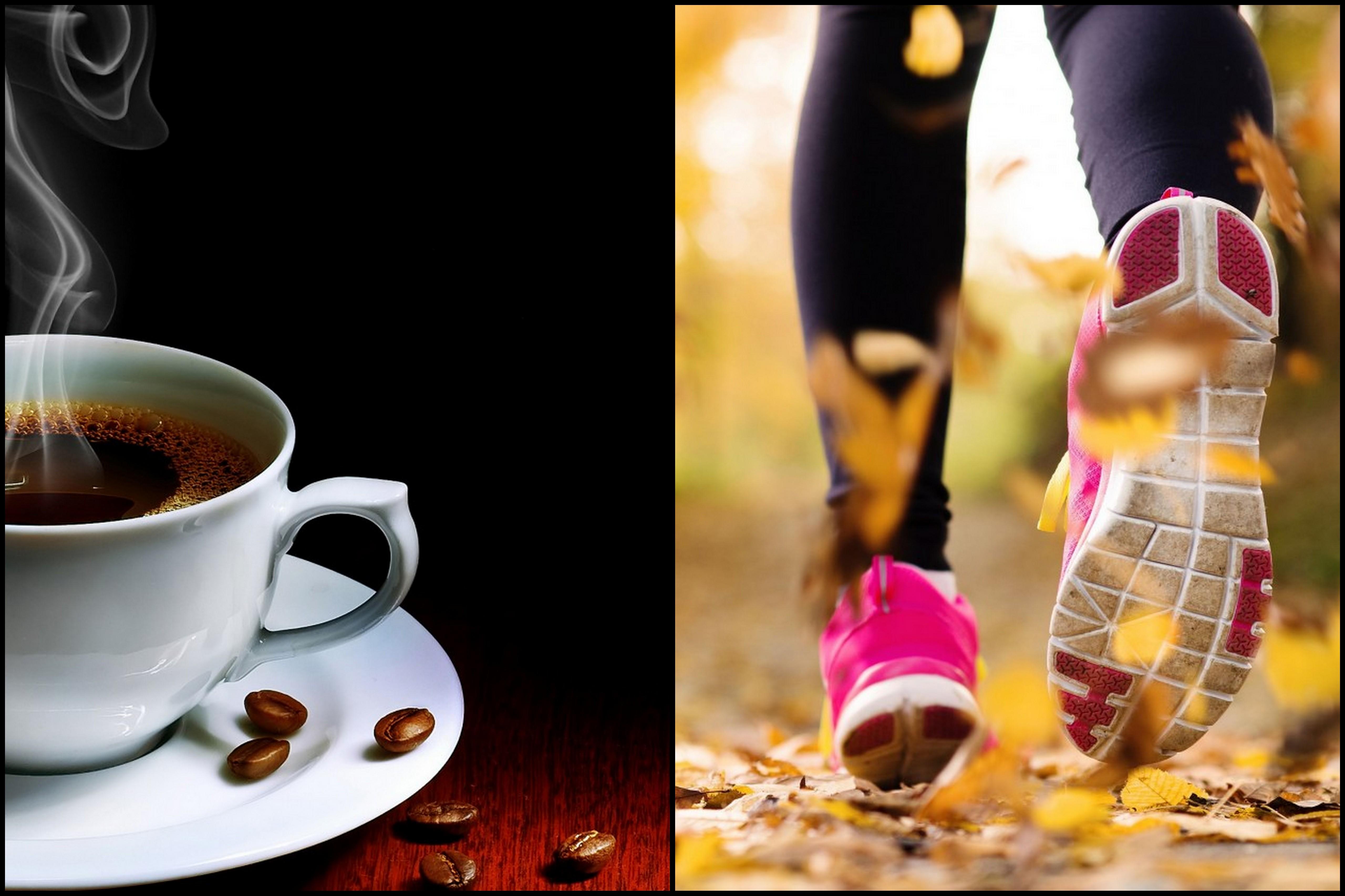 káva pred treningom