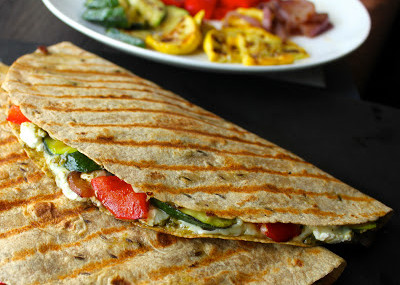 Grilled-Vegetable-Quesadillas-with-Goat-Cheese