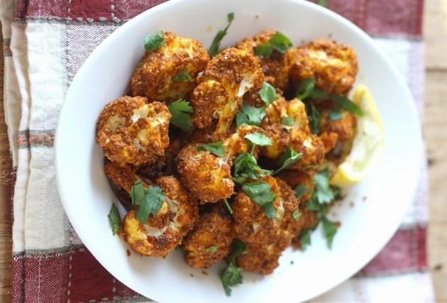 tandoori roasted cauliflower recipe for thanksgiving vegetarian side dish