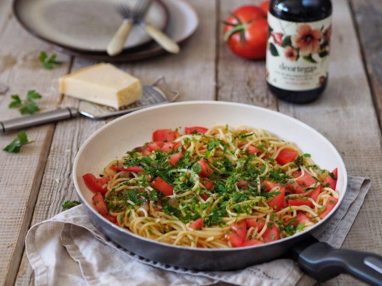 Spagetti peperoncino, kde ja doma preferujem kukuričné bezlepkové.