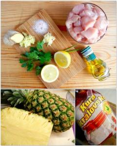 priprava ananas havajske spizy