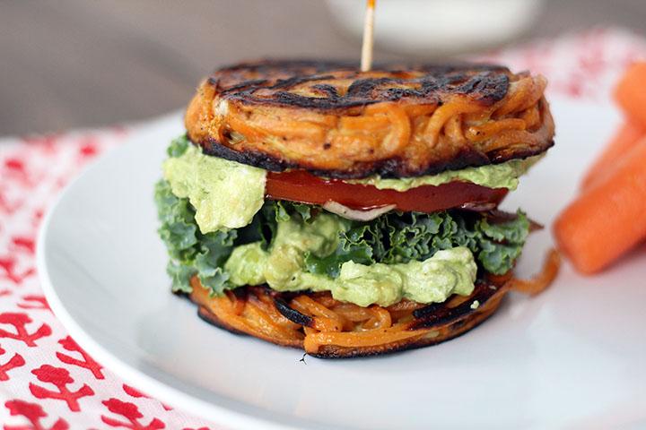 Sladky zemiak burger. Obrázok: Mastercook.com