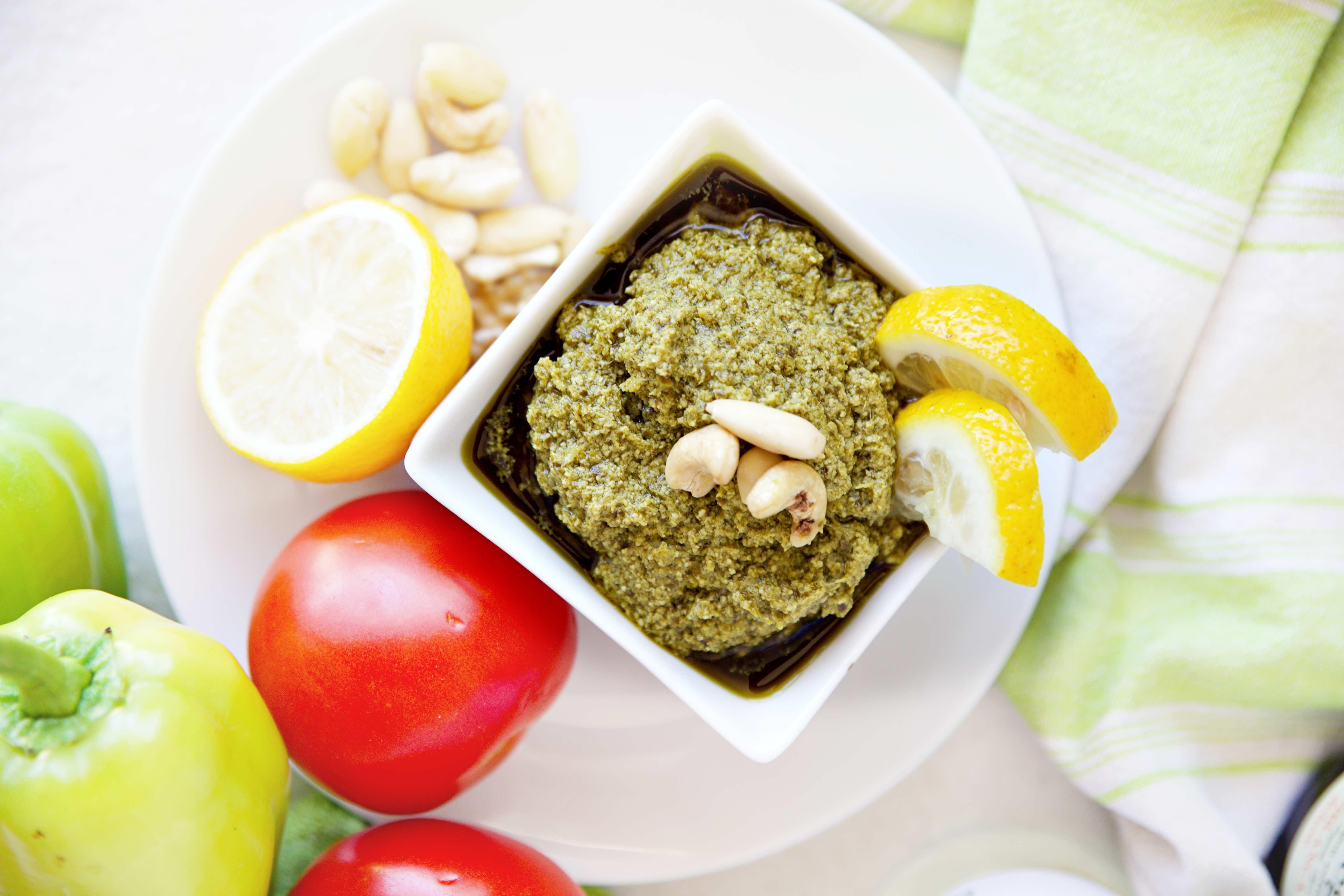 Bazalkove pesto s olivovym olejom powerlogy