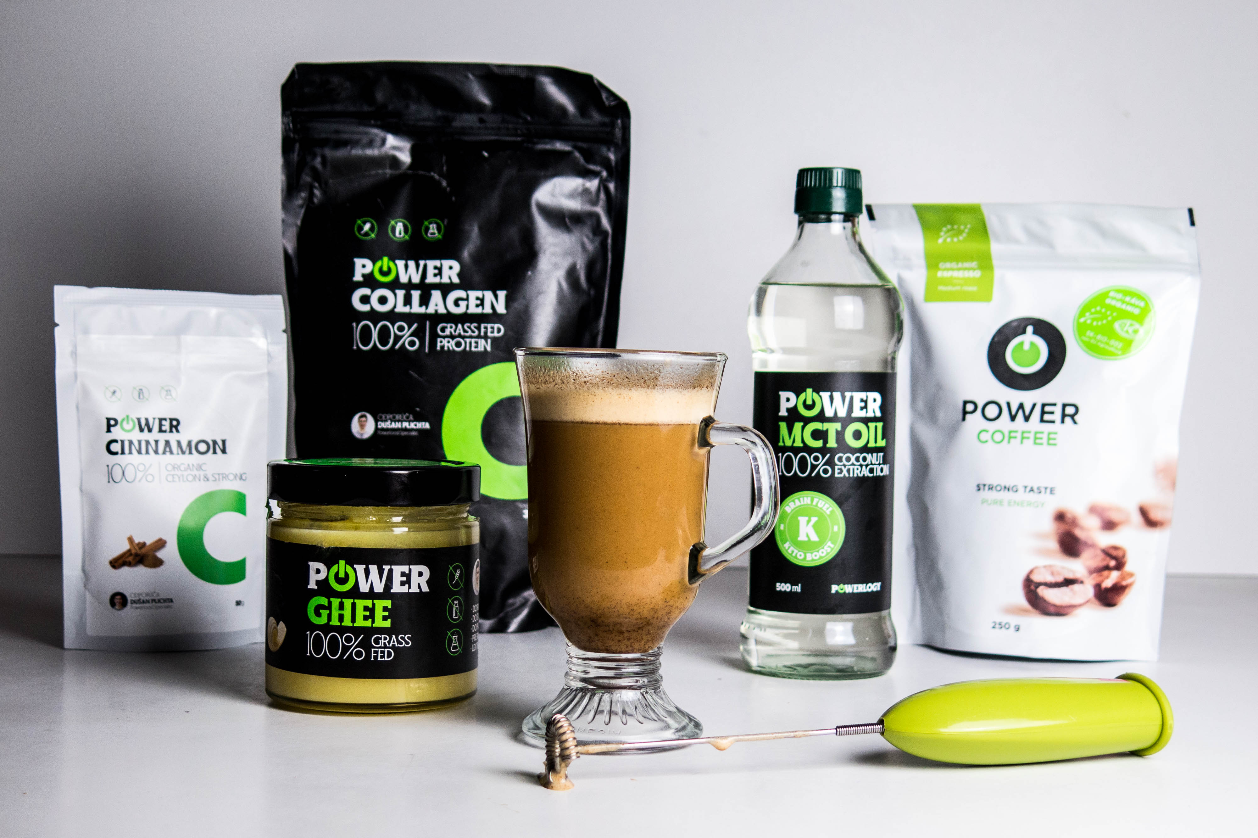 powerlogy dusan plichta bihacking power coffee mct olej collagen maslo ghee efektivne ranajky