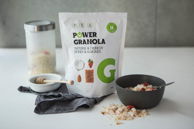 Chrumkave bezlepkove musli power granola