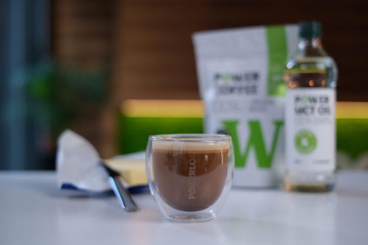 Funkčná raná káva  s 10g masla, 10ml MCT a 10g kolagénu