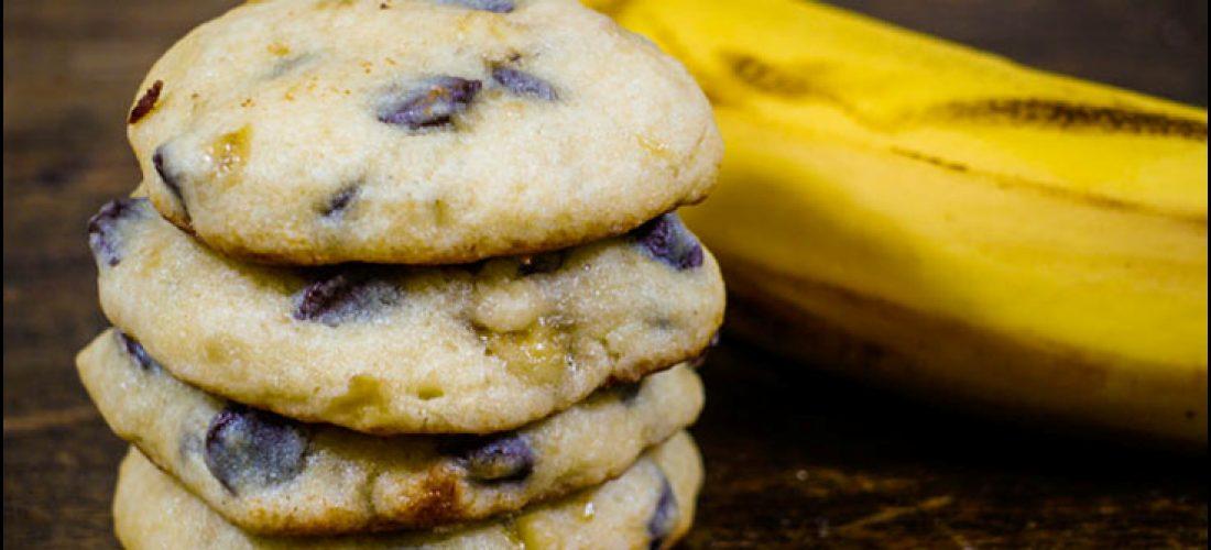 banánové cookies